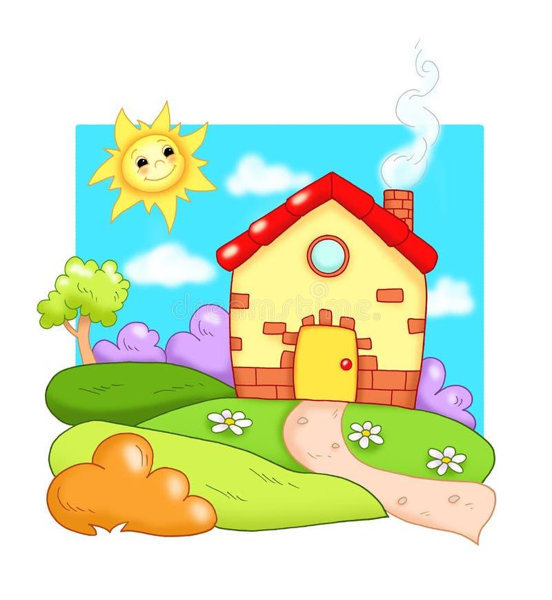 HOME, HOME pequena ilustração royalty free