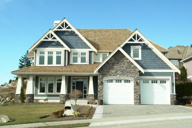 Home House Blue Designer New stock images