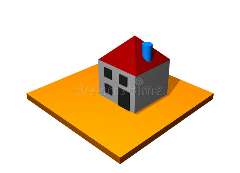 Home House Building royalty free illustration
