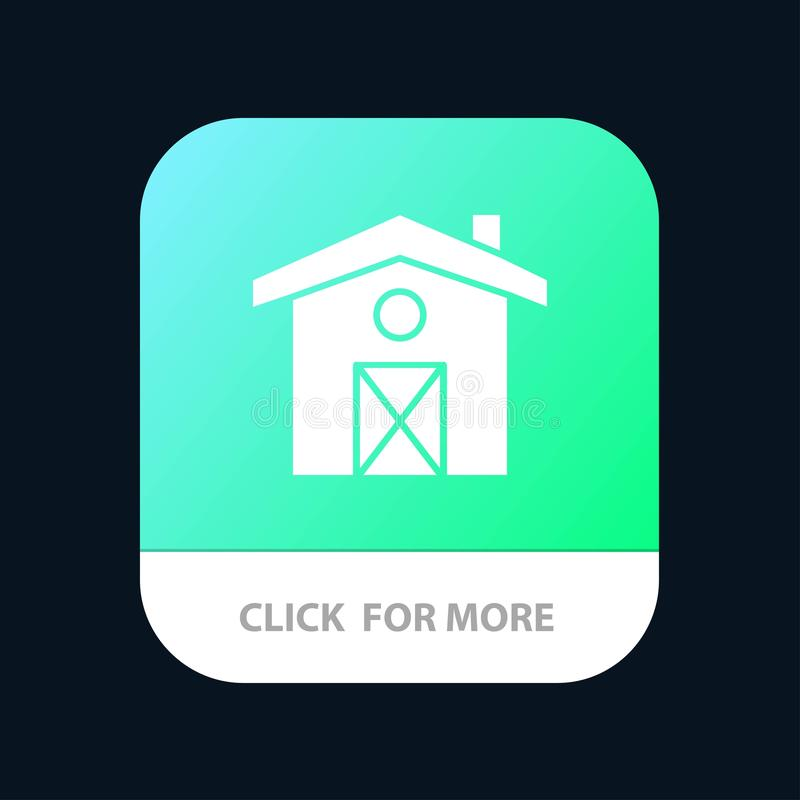 Home, House, Canada Mobile App Button. Android and IOS Glyph Version royalty free illustration