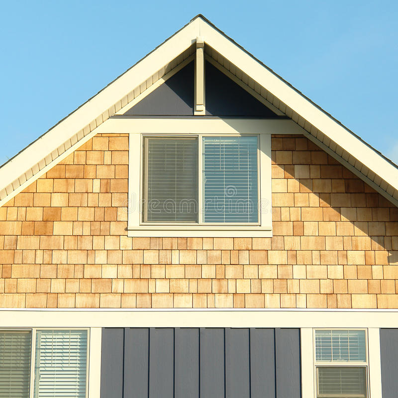 Home house exterior siding roof gable stock photo image for House finishing
