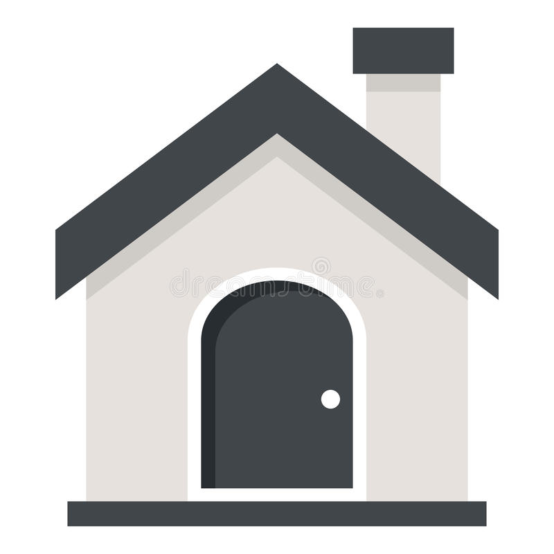 Home or House Flat Icon Isolated on White stock illustration