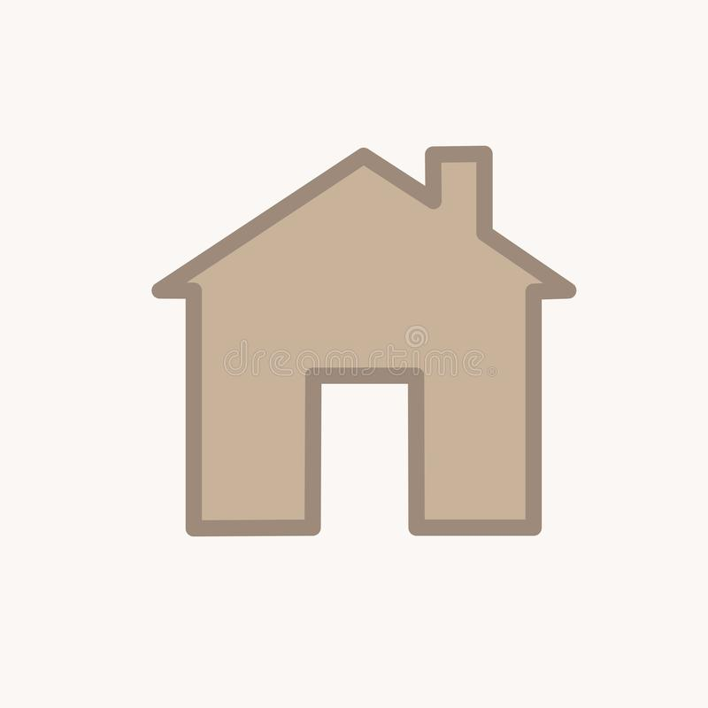 Home house icon symbol clipart homepage. House icon  home icon white background vector icon design architect building business button collection concept royalty free illustration