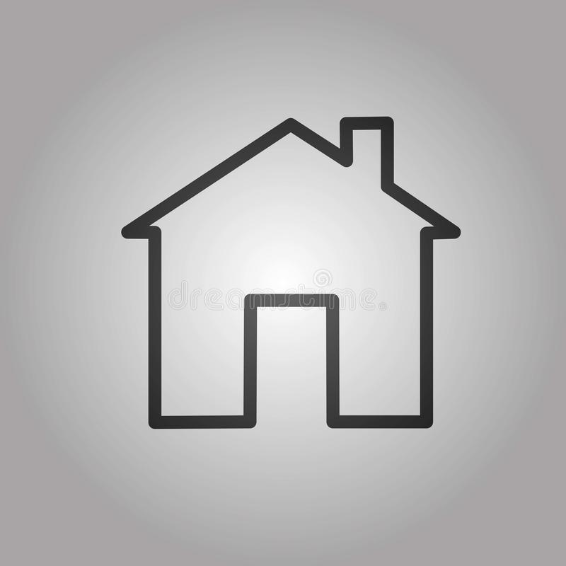 Home house icon symbol clipart homepage. House icon  home icon white background vector icon design architect building business button collection concept stock illustration