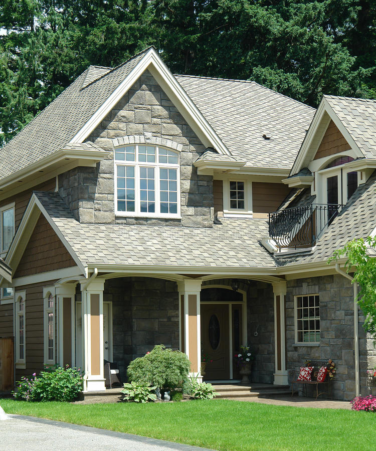 Home House With New Shake Roofing stock photos