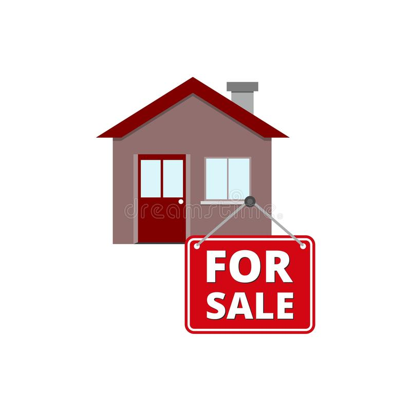 Home House for Sale icon or sign, simple illustration vector illustration