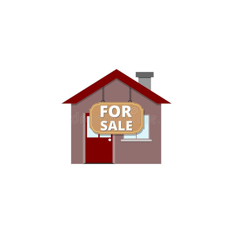 Home House for Sale icon or sign, simple illustration stock illustration