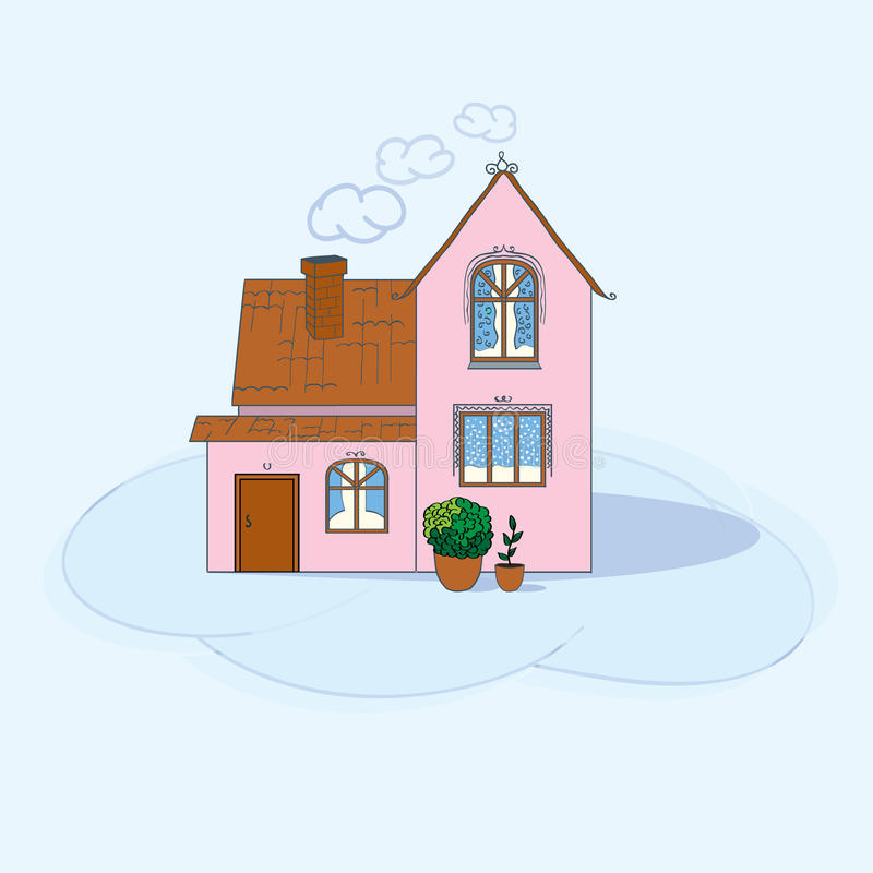 home hussymbolsillustration royaltyfri illustrationer