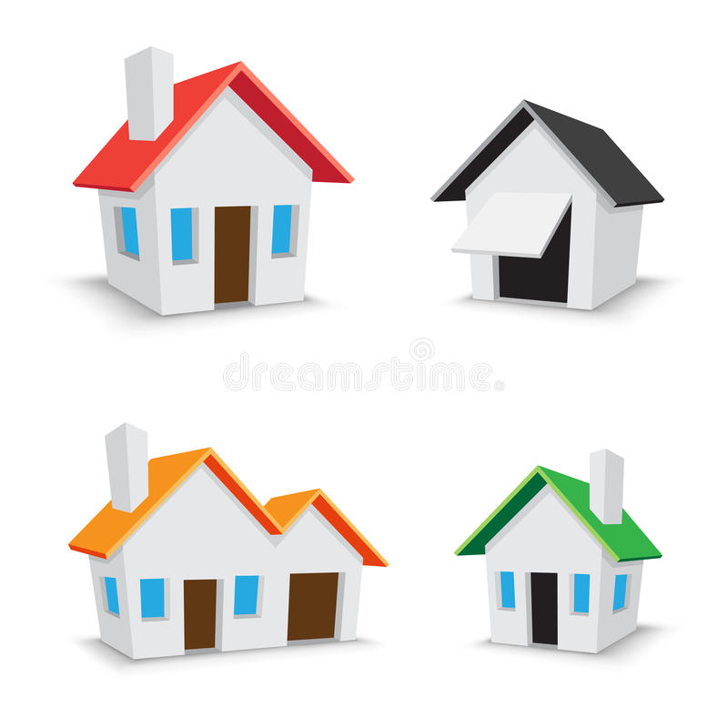 Download Home icon stock vector. Illustration of blue, cottage - 19214542