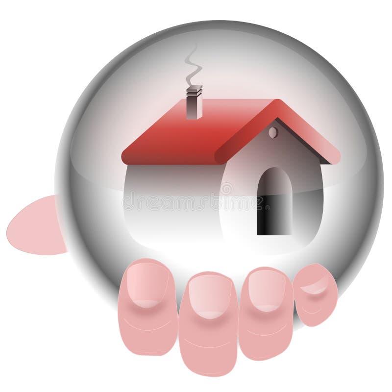 Download Hand Holding House Crystal Ball Stock Illustration - Illustration: 21158098