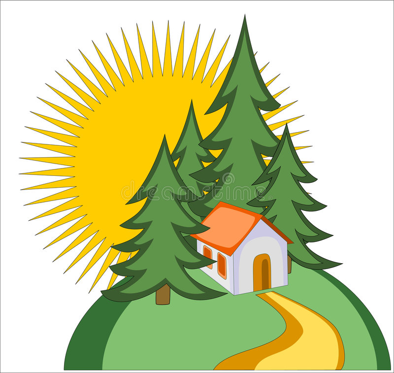 Download Home icon stock vector. Image of condo, forest, firs, hill - 2153898