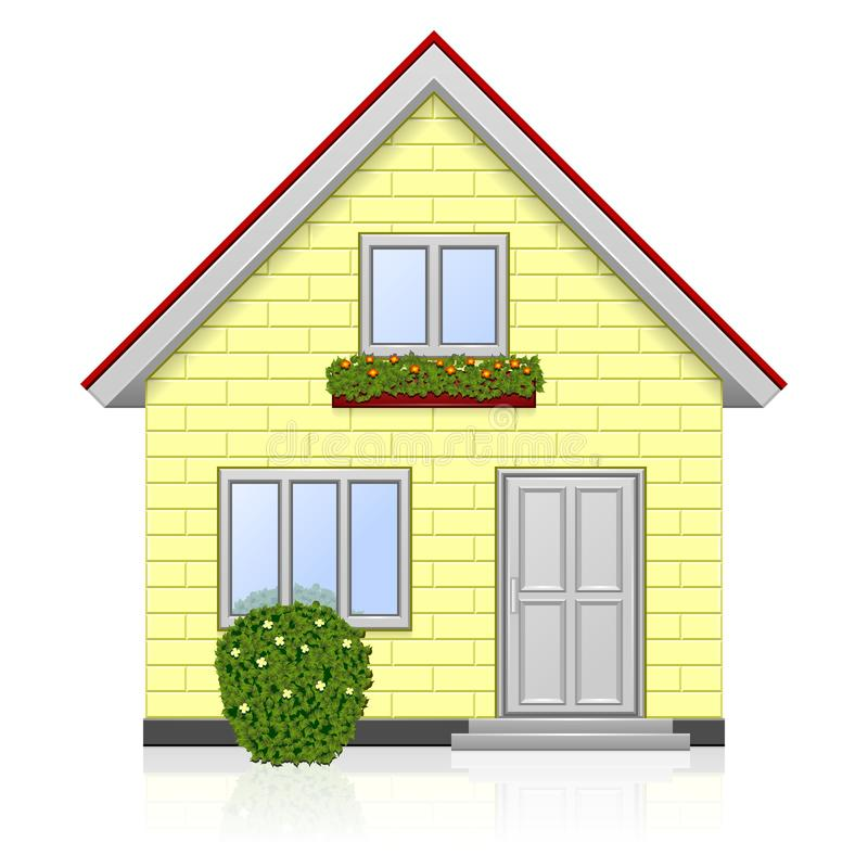 Home icon stock vector. Image of bush, architecture, home - 24594114