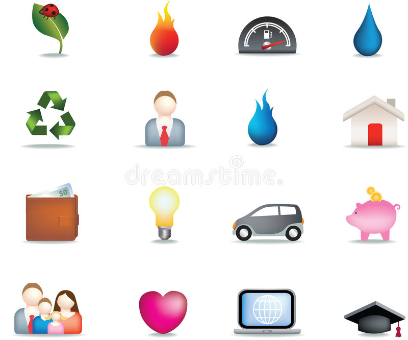 Home Icon Button Set Royalty Free Stock Images