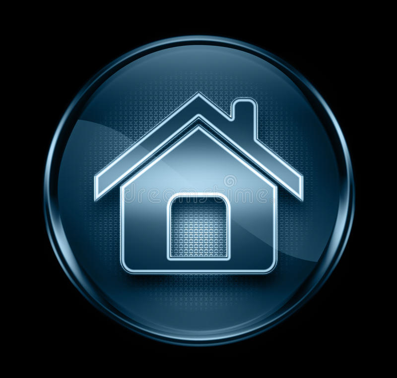 Home icon dark blue. royalty free illustration