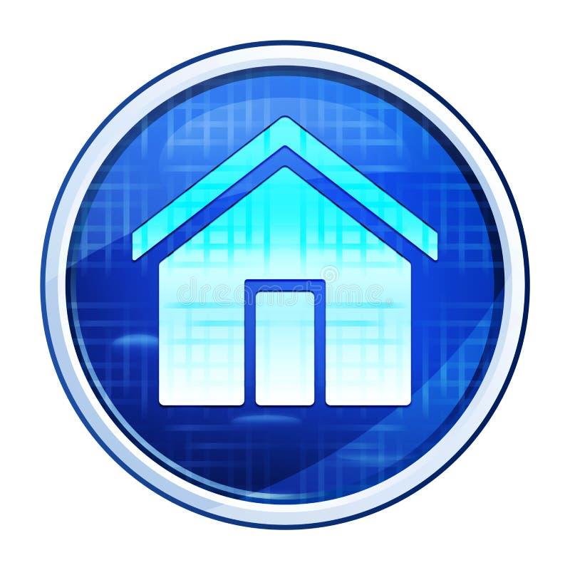Home icon futuristic blue round button vector illustration stock illustration