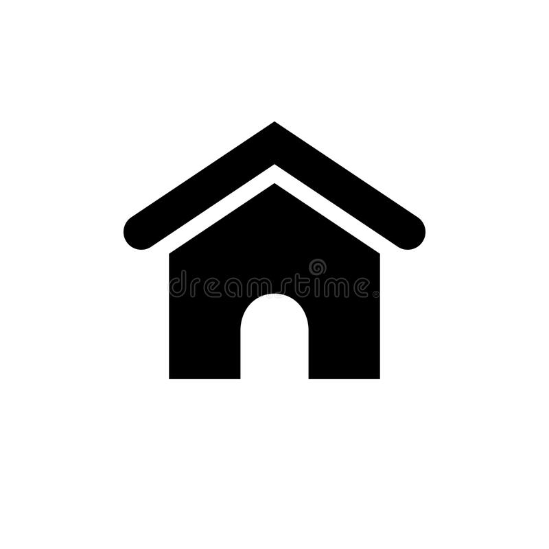 Home Icon. Flat vector graphic on isolated background stock illustration
