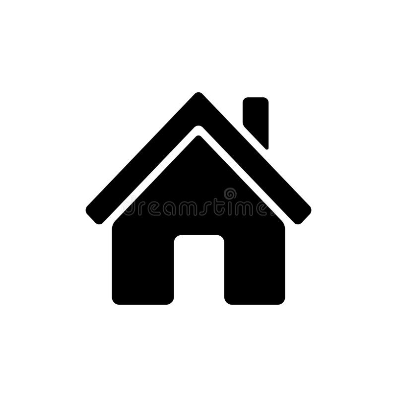 Home icon. stock illustration