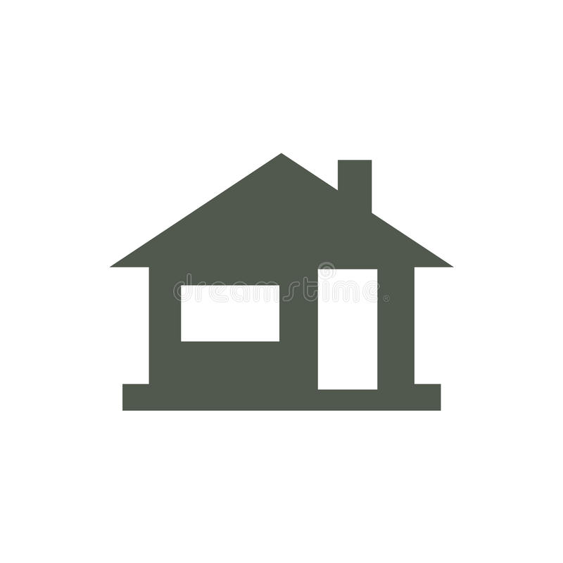 Home icon, house silhouette. Vvector illustration royalty free illustration