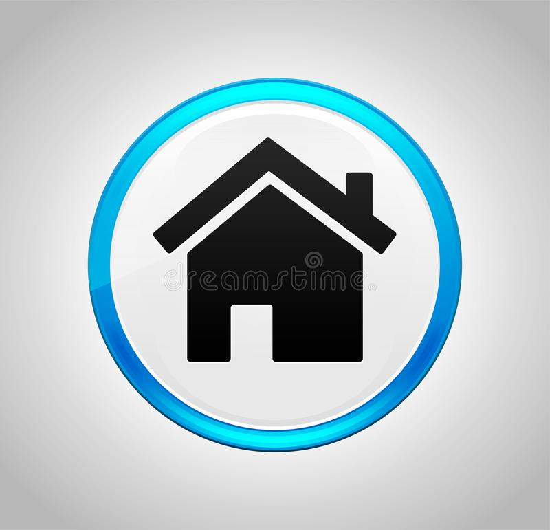 Home icon round blue push button. Home icon isolated on round blue push button royalty free illustration