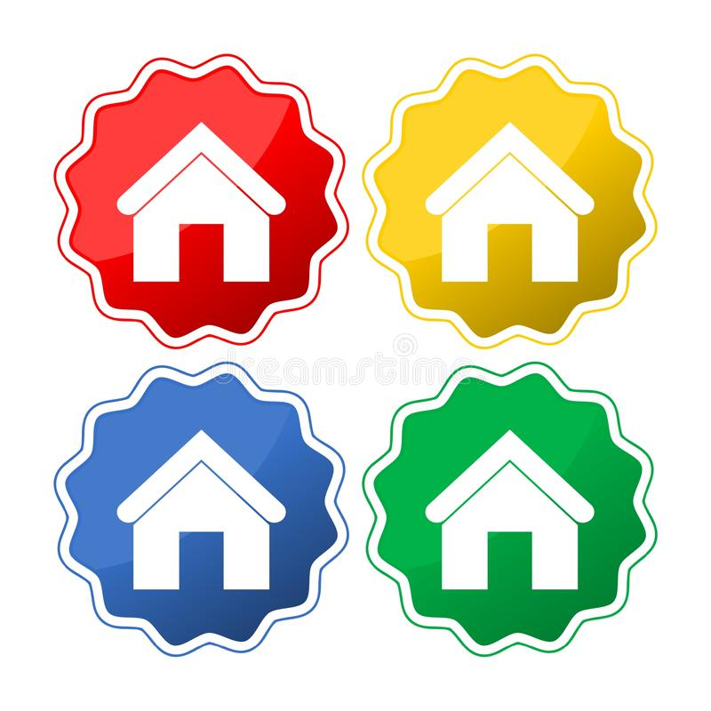 Home icon. Simple vector icon royalty free illustration