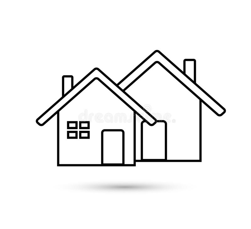 Home icon. Simple vector filled flat home or house thin line icon vector care solid blue isolated on white background vector illustration