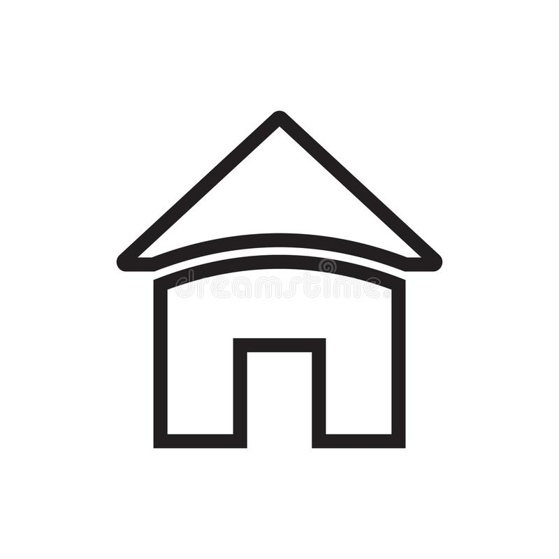 Home icon. Vector icon. Home icon. Vector illustration isolated on white background stock illustration