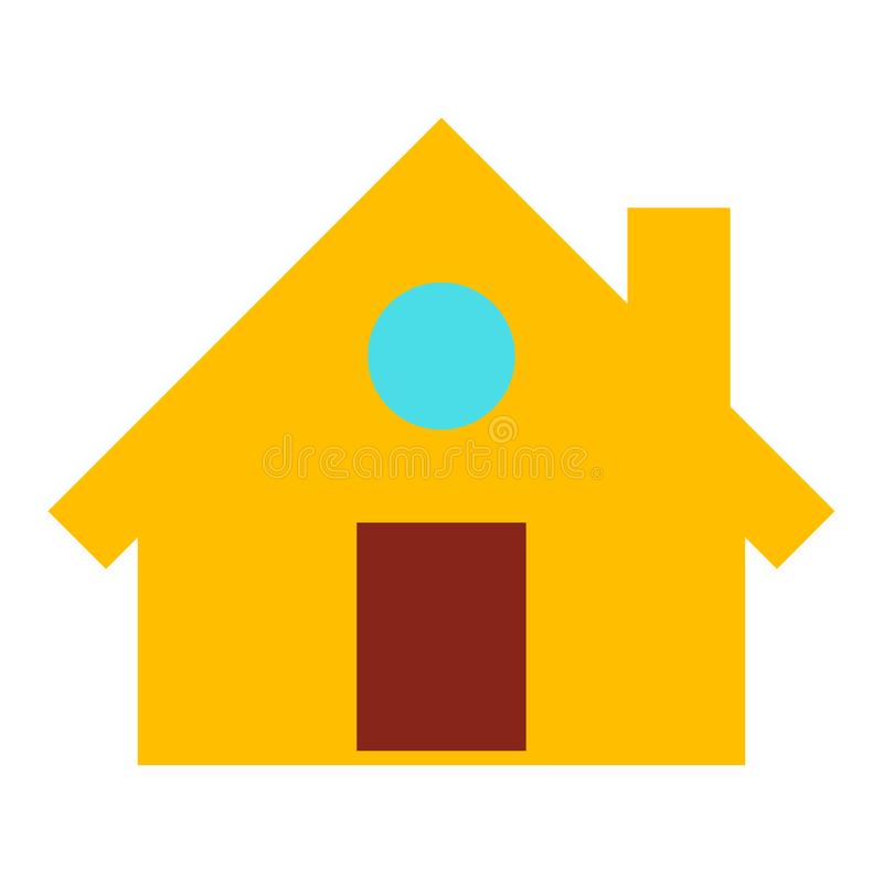 Home icon, vector real estate house, residential symbol. vector illustration