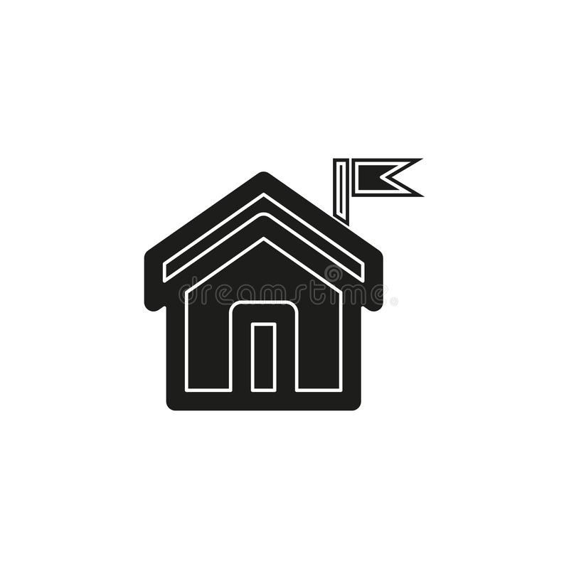 home icon, vector real estate house, residential symbol stock illustration