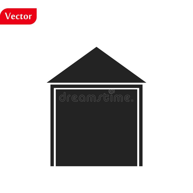 Home Icon vector. Simple flat symbol. Perfect Black pictogram illustration on white background stock photography