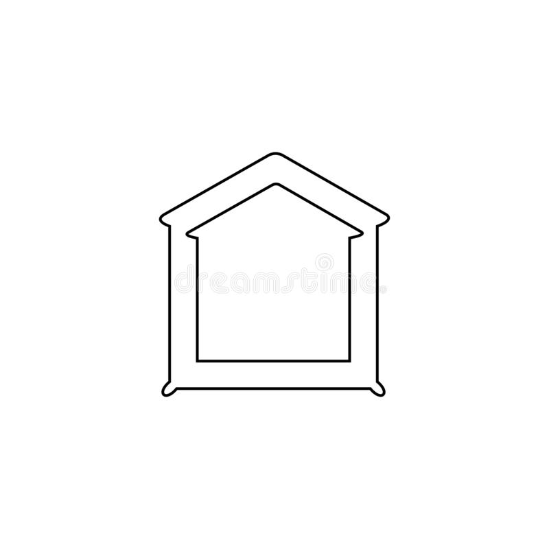 Home icon. Web site home page button stock illustration