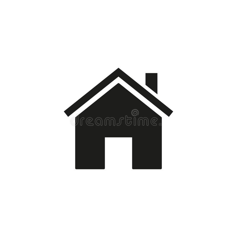 Home of icon. On the white background royalty free illustration