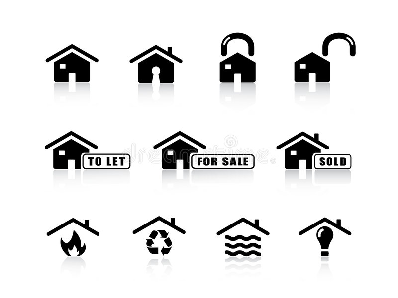 Download Home Icons Royalty Free Stock Image - Image: 6613856