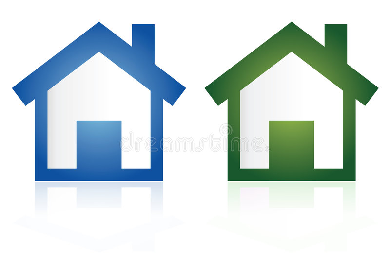 Home icons. In white background
