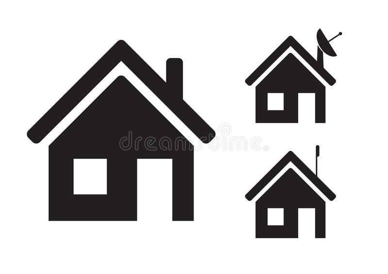 Home icons royalty free stock photography