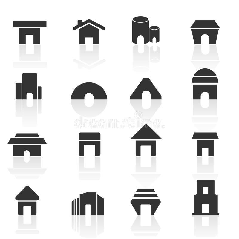 Home icons set 01 stock photo