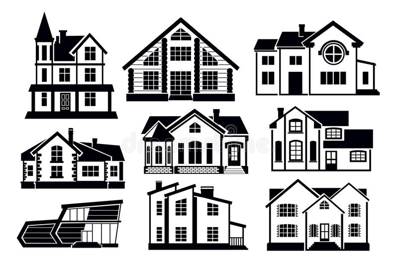Download Home icons stock vector. Image of black, growing, image - 30708188