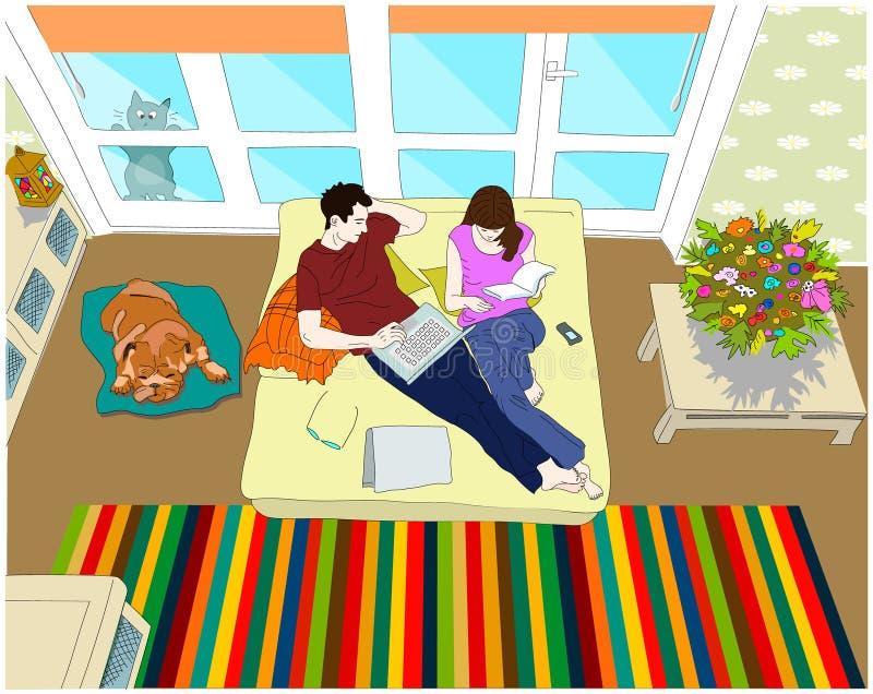 At home royalty free illustration