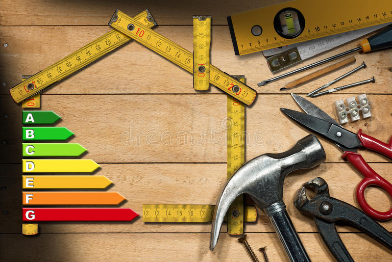 Home Improvement Concept - Energy Efficiency royalty free stock images