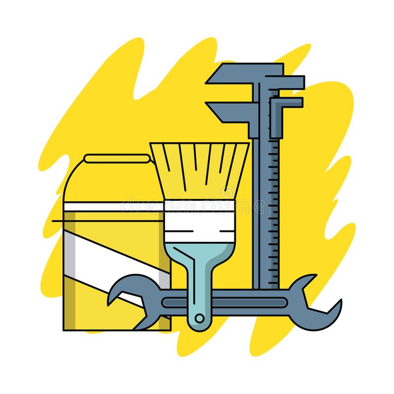 Home improvement and tools. Home improvement and construction tools vector illustration graphic design vector illustration