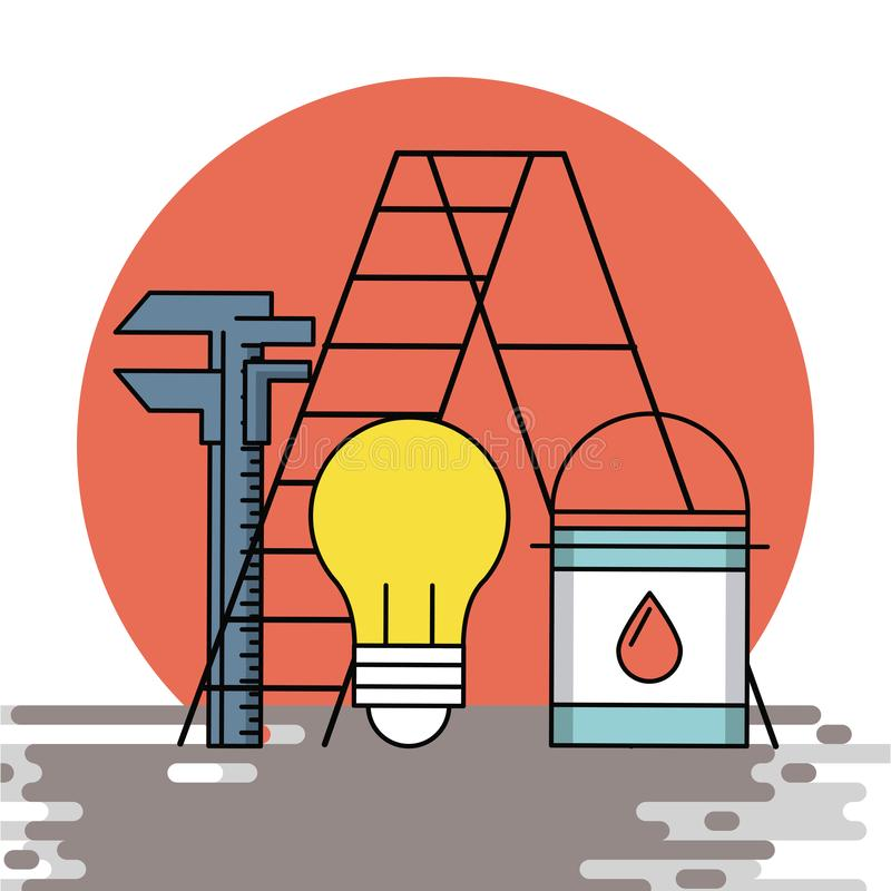 Home improvement and tools. Home improvement and construction tools vector illustration graphic design royalty free illustration
