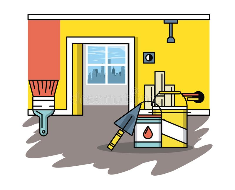 Home improvement and tools. Home improvement and construction tools vector illustration graphic design stock illustration