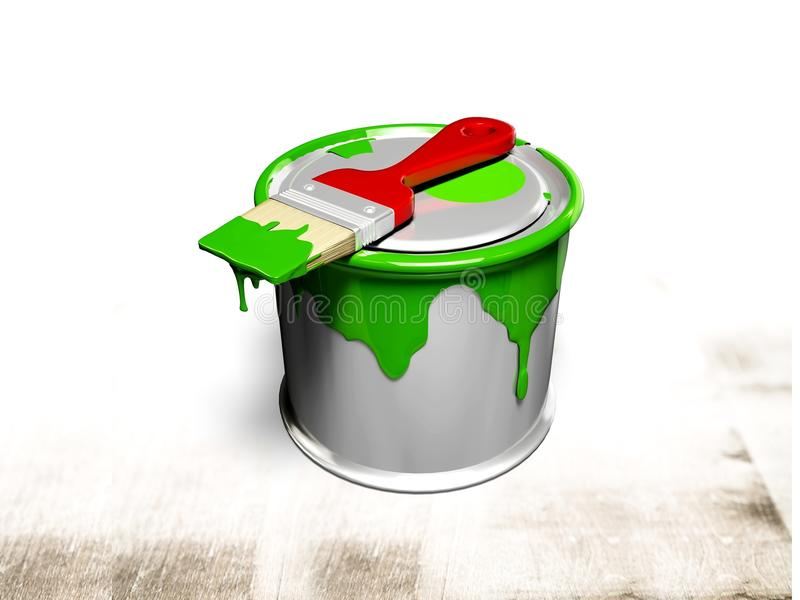 Colore paint can on light background royalty free stock image