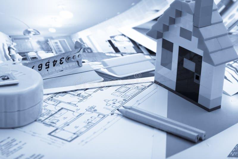 Home Improvement plan royalty free stock photos
