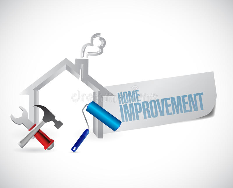 Home improvement sign and tools stock illustration Home improvement design software free
