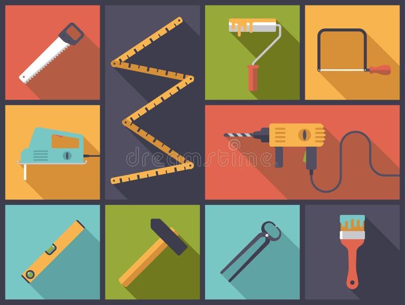 Home improvement tools vector Illustration royalty free illustration