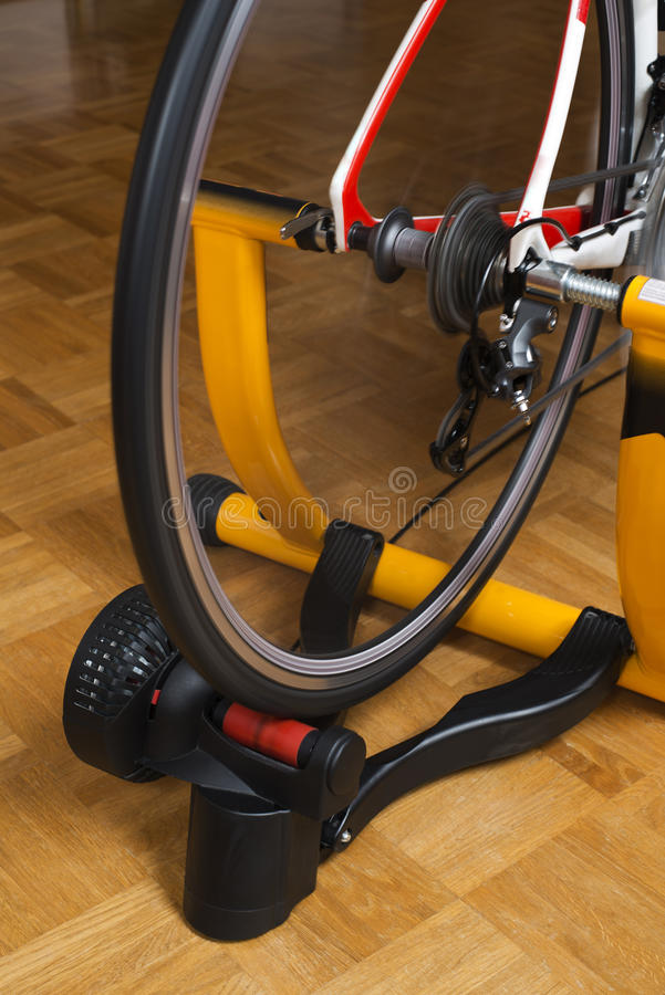 Bike trainer royalty free stock photography