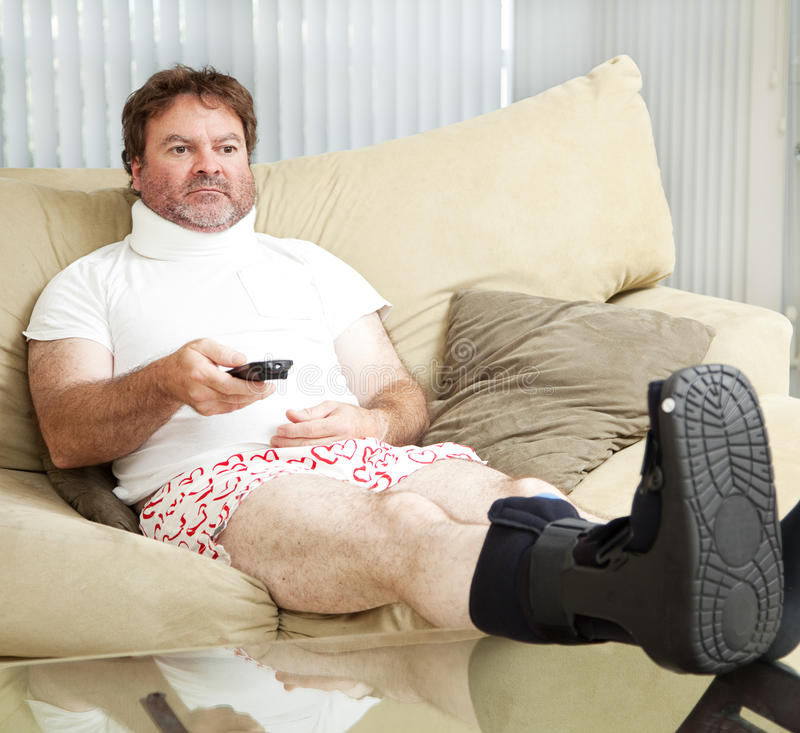 At Home With Injuries royalty free stock photography