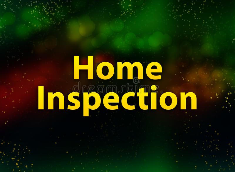Home Inspection abstract bokeh dark background. Home Inspection isolated on abstract bokeh dark background vector illustration