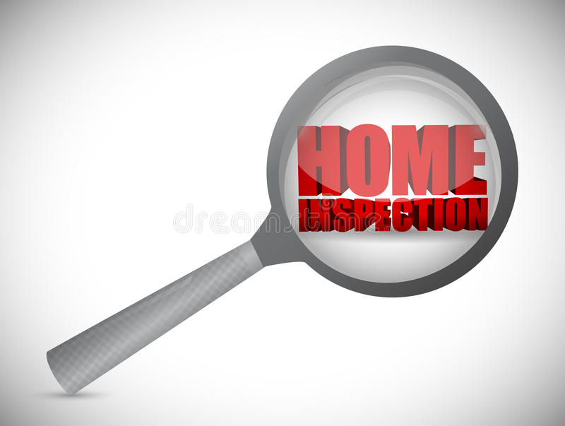 home inspection review concept illustration design royalty free illustration