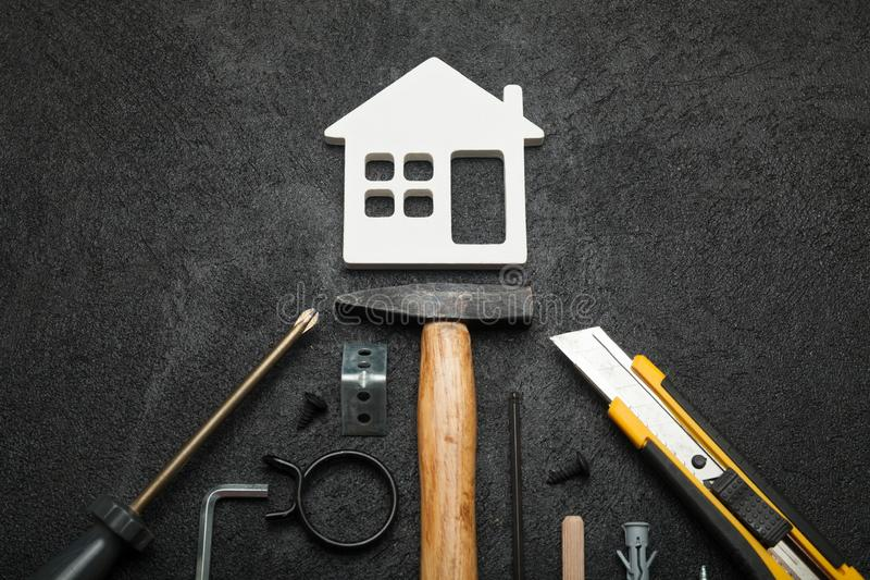 Home inspection service, leak renovation.  royalty free stock images